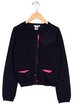 Billieblush Girls' Knit Embellished Cardigan