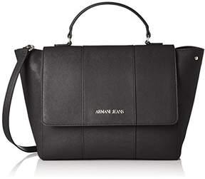 Armani Jeans Saffiano Large Top Handle Bag