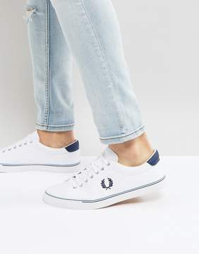 Fred Perry Underspin Canvas Sneakers in White