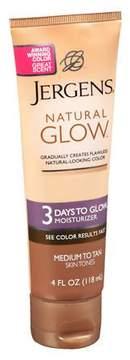 Jergens Natural Glow 3 Days to Glow Moisturizer Medium to Tan