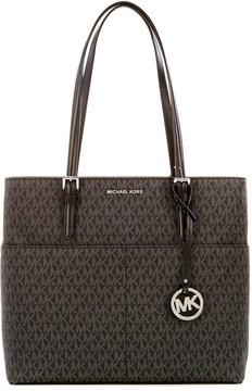MICHAEL Michael Kors Bedford Signature Large Pocket Tote - BLACK - STYLE