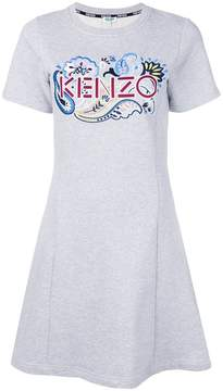 Kenzo paisley logo sweatshirt dress