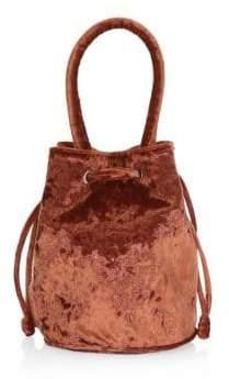 Loeffler Randall Jesmyn Crushed Velvet Bucket Bag