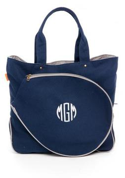 CB Station Navy Monogrammed Tennis Tote