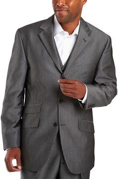 JCPenney Steve Harvey 3-Button Black Stripe Suit Jacket