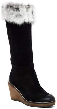 Manas Design Faux Fur Tall Wedge Boot