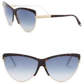 Victoria Beckham 66mm Modified Cat Eye Sunglasses