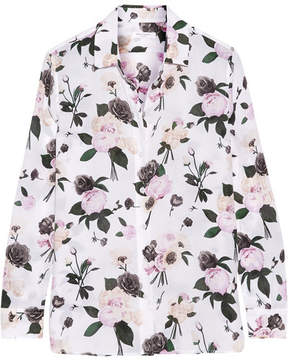 Equipment Leema Floral-print Silk Crepe De Chine Shirt - Ivory