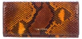 Tom Ford Snakeskin Logo Wallet