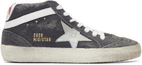Golden Goose Deluxe Brand Grey Suede Mid Star Sneakers