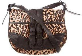Rachel Zoe Leopard Print Ponyhair Crossbody Bag