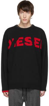 Diesel Black Oversized K-LogoX Sweater