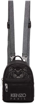 Kenzo Black Limited Edition Holiday Mini Tiger Backpack