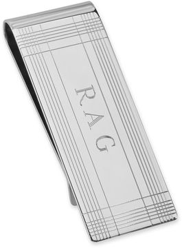 Asstd National Brand Sterling Silver Personalized Tartan Money Clip