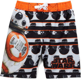 Star Wars Black & Orange Swim Trunks - Boys