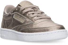 Reebok Women's Club C Metallic Casual Sneakers from Finish Line