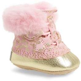 Sorel Infant Caribootie Genuine Shearling Crib Shoe