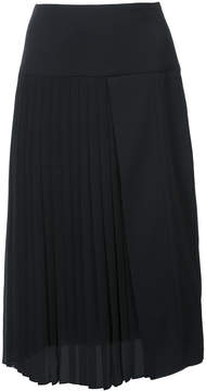 ADAM by Adam Lippes Satin back crepe pleat front skirt