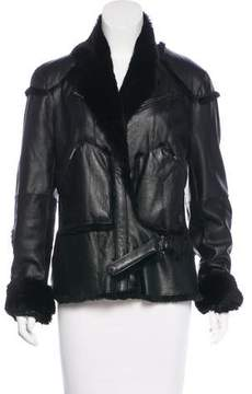 Christian Dior Fur Moto Jacket