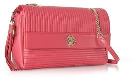 Roberto Cavalli Women's Red Leather Shoulder Bag.