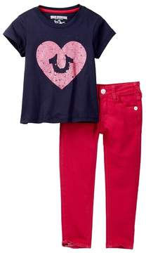 True Religion Sponge Pants Set (Toddler Girls)
