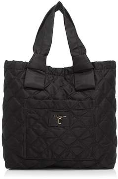 Marc Jacobs Knot Quilted Nylon Tote - BLACK - STYLE
