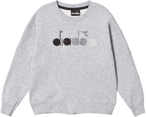 Diadora Grey with Glitter Branded Sweater