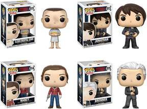 Eleven Paris Funko POP! Television Stranger Things Collectors Set w/ Hospital Gown, Jonathan w/ Camera, Nancy w/Gun & Brenner