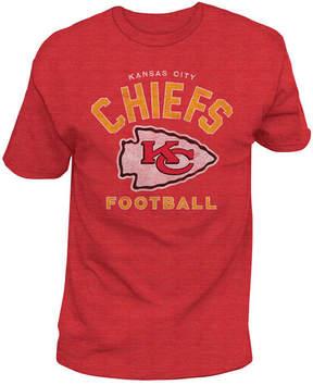 Authentic Nfl Apparel Men's Kansas City Chiefs Midfield Retro T-Shirt