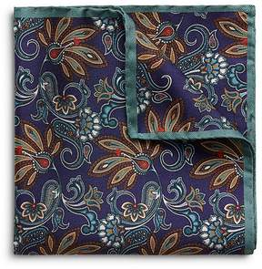 Eton Floral Paisley Pocket Square