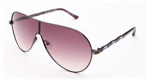 Judith Leiber Women's Royal Plisse Sunglasses Hematite.