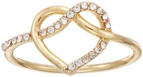 Lauren Conrad Simulated Crystal Heart Knot Ring