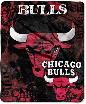 Northwest Company Chicago Bulls Raschel Shadow Blanket