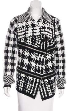 Barbara Bui Patterned Wool-Blend Jacket w/ Tags