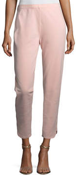 Joan Vass Ankle Pants w/ Notch Detail