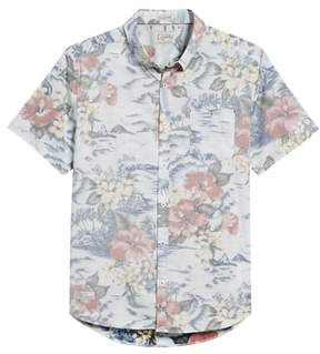 7 Diamonds Vacation Tropical Print Sport Shirt