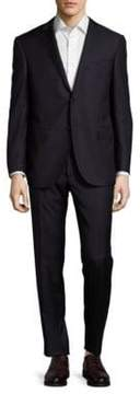 Corneliani Regular-Fit Virgin Wool & Cashmere-Blend Pinstriped Suit