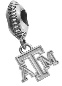 Dayna U Sterling Silver Texas A&M Aggies Team Logo Football Charm