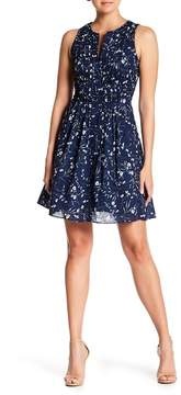 Cynthia Steffe CeCe by Graceful Floral Pintuck Dress