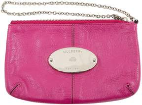 Mulberry Pink Leather Clutch Bag