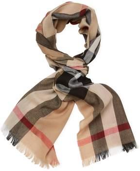 Burberry Women's Lightweight Check Wool & Cashmere Long Scarf, 78 x 18
