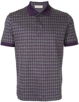 Cerruti houndstooth polo shirt