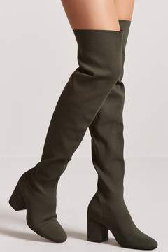 Forever 21 Ribbed Over-the-Knee Boots
