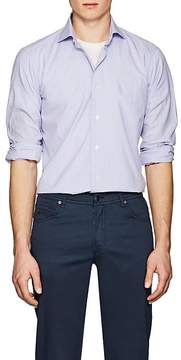 Barba Men's Checked Cotton Poplin Shirt