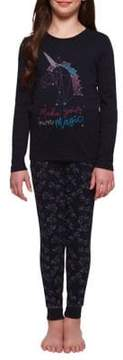 Dex Girl's Two-Piece Printed Pajamas Set