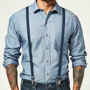 Blade + Blue Navy Blue Skinny Elastic Suspenders