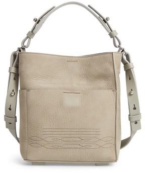 AllSaints Cooper Mini Leather Tote - Grey