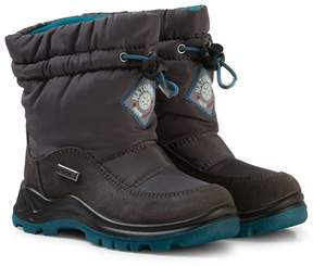 Naturino Grey and Blue Varna Waterproof Suede and Nylon Boots