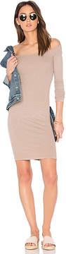 Enza Costa Rib Off Shoulder Mini Dress