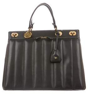 Ralph Lauren Quilted Leather Tote